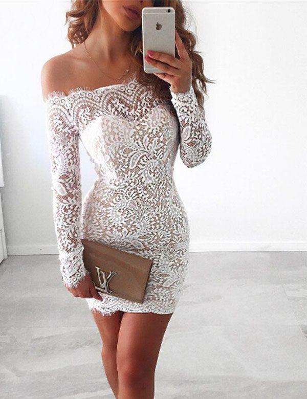 Vintage Lace Off shoulder Embroidery Floral Dress d1bcd3aeb1