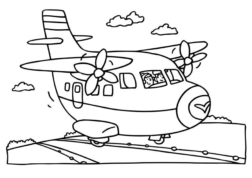 Kleurplaat vakantie Kleurplaten vakantie Airplane