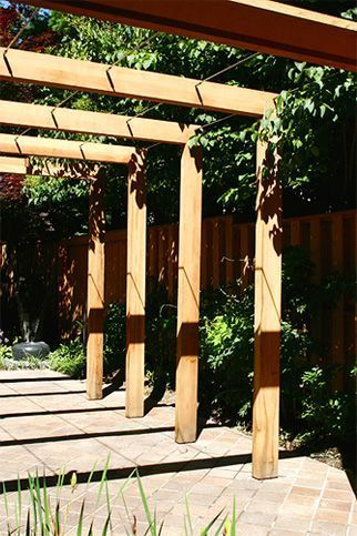 5 Easy Timber Frame Pergolas Designs ... deviate to some degree as long as you stick with the covenants and ordinances of your area. Ask yourself Do you like dark or light wood? Does it com... light wood? Does it complement your neighborhood? Curves? Straight lines? Intricate or simple designs? Take into account the style that is already in #images.buildapergola.com #landscape-pergola-timber #pergolas