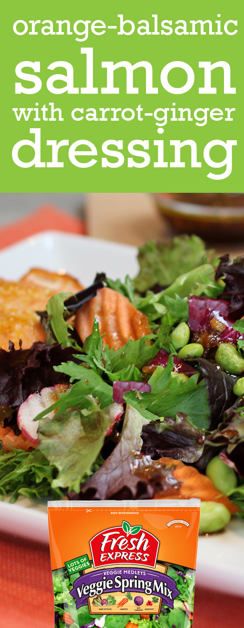 Looking for something different? Try our Veggie Spring Mix paired with a salmon marinated in an orange-balsamic sauce and cooked on a cedar plank.