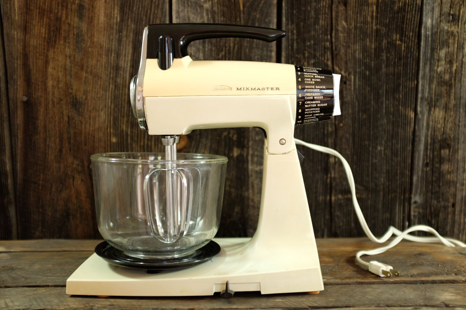 Incredible vintage sunbeam mixmaster with his two original