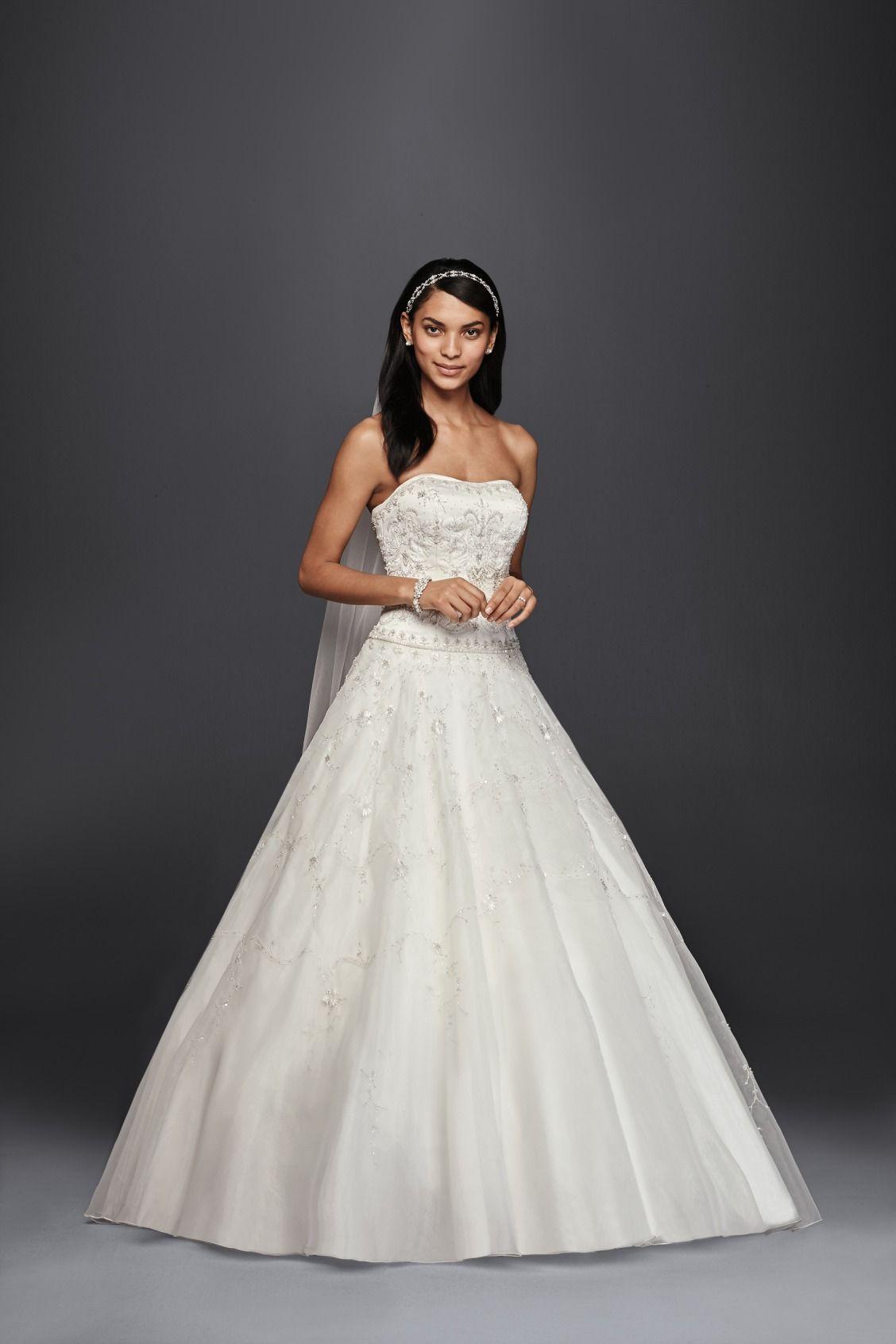 Ball gowns wedding dresses  Oleg Cassini Satin Bodice Organza Ball Gown Wedding Dress available