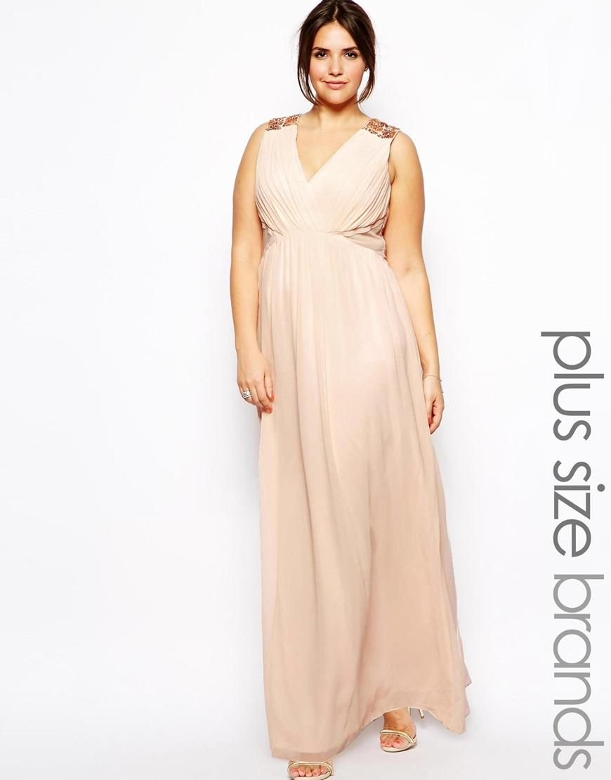 Plus size wedding reception dresses for guests  Little Mistress  Little Mistress Grecian Maxi With Embellished