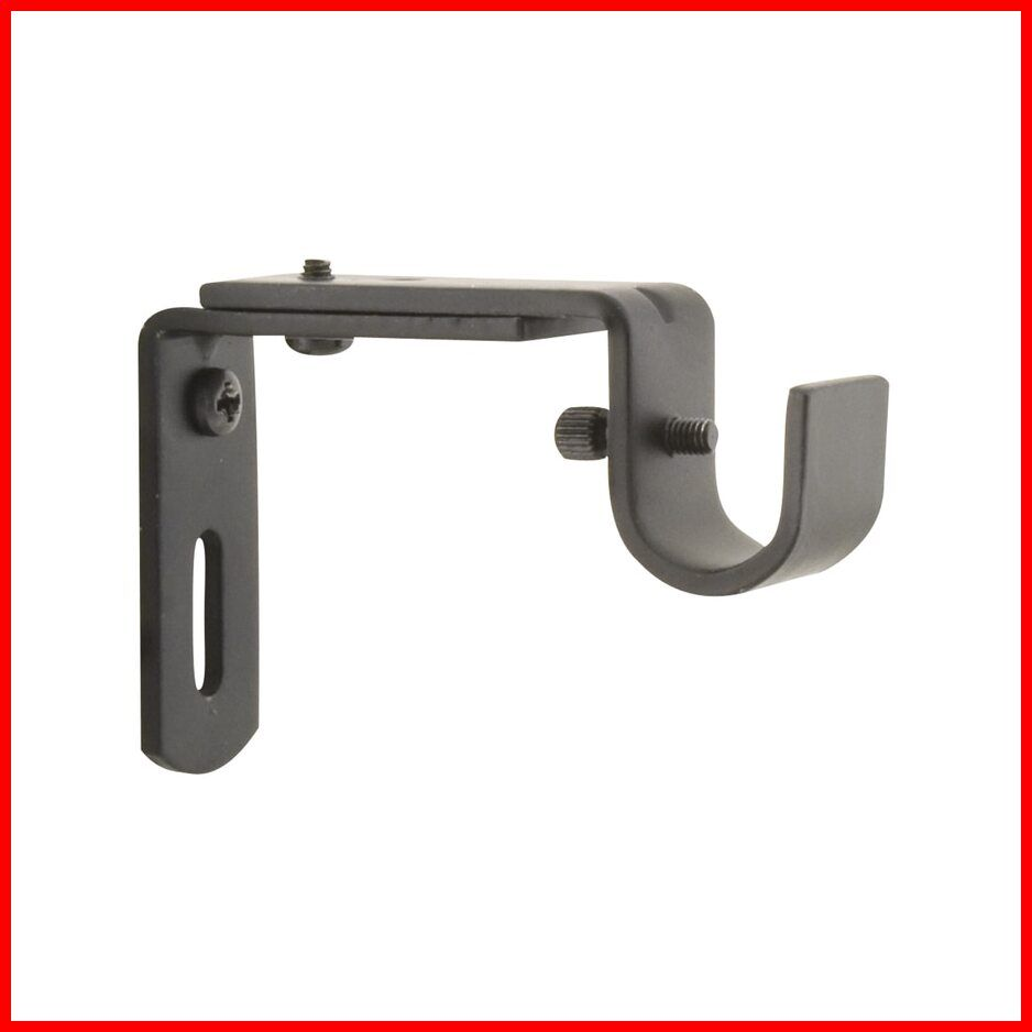 130 Reference Of Curtain Brackets Single In 2020 Curtain Brackets Curtain Rod Holders Curtain Rod Brackets