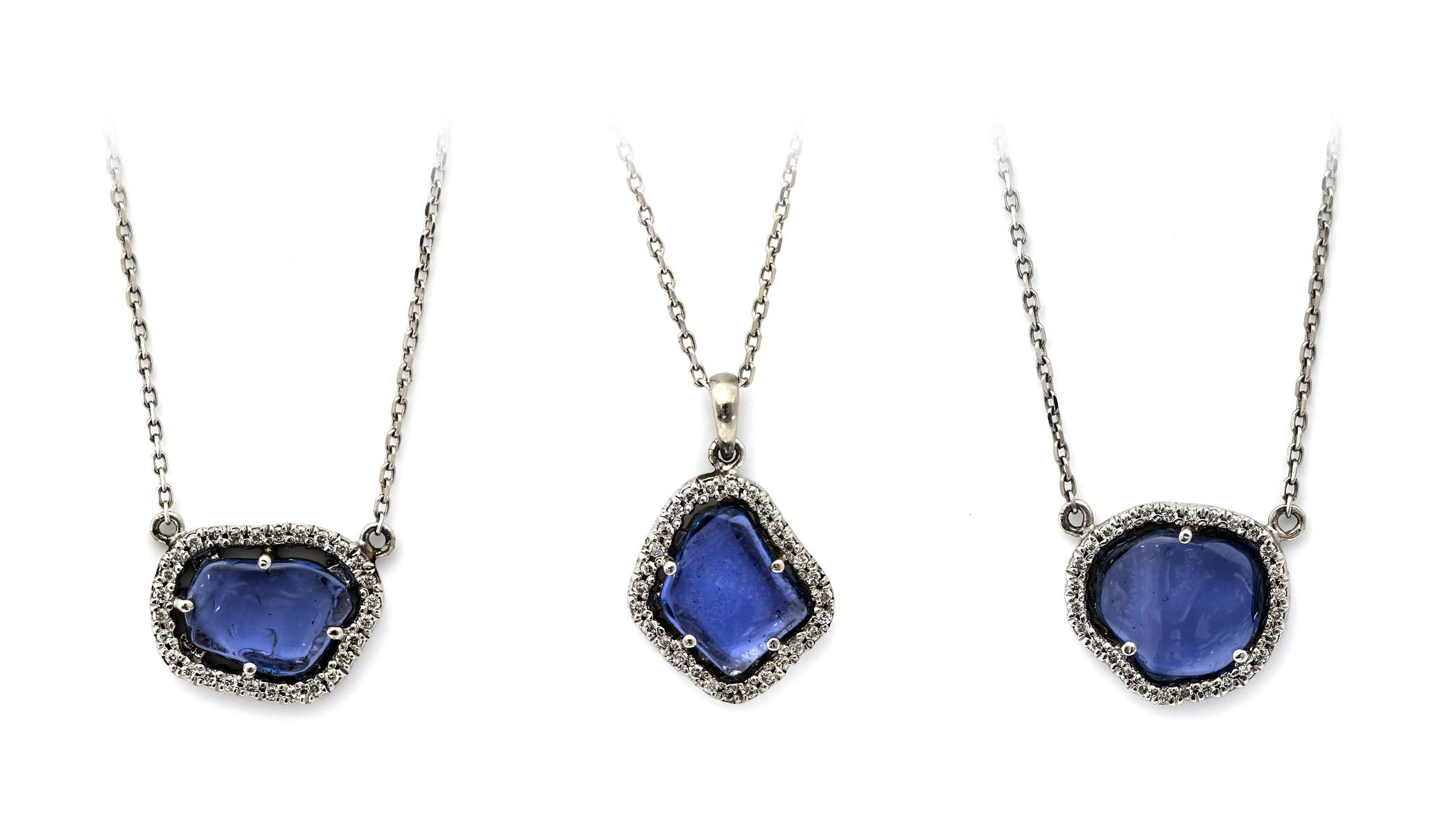 Polished Rough Yogo Sapphire Pendants | Sapphire pendant ...Unpolished Sapphire Necklace