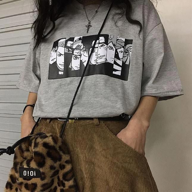 Anime Oversized T-Shirt | Aesthetic clothes, Edgy outfits ...