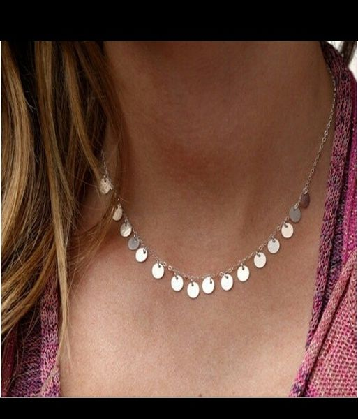 nuevos productos calientes unos dias diseño superior Collar medallitas plata de Larandeando por DaWanda.com | Collares ...