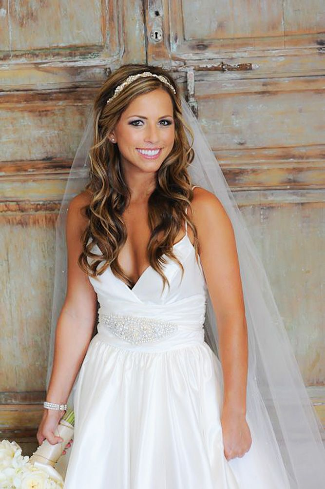 42 Dreamy Wedding Hairstyles With Veil Wedding Forward Bridal Hair Down Wedding Hairstyles For Long Hair Veil Hairstyles
