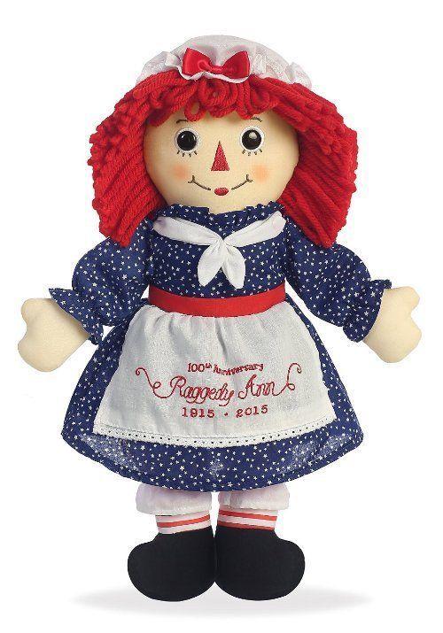 """Aurora World Raggedy Ann Classic Doll 16/"""""""
