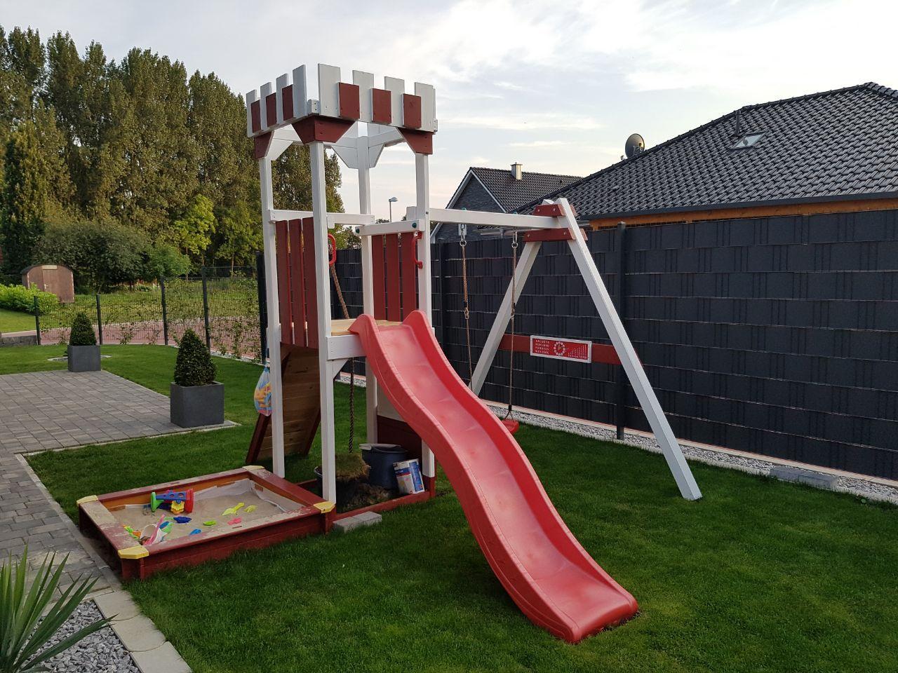 Klettergerüst Mit Rutsche Und Schaukel : Woodinis spielplatz doppelschaukel mit klettergerüst und rutsche