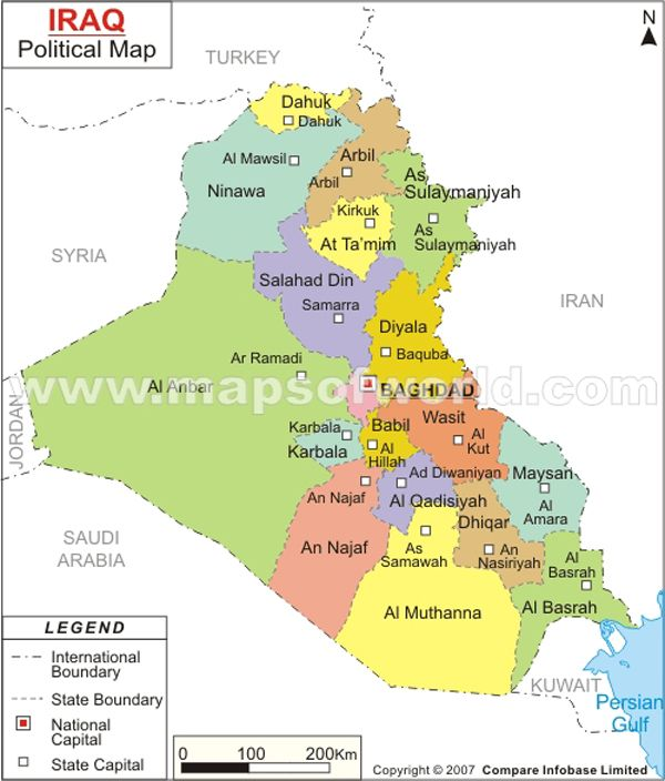 Iraq #Map | Maps | Pinterest | Iraq map, Country maps and Map
