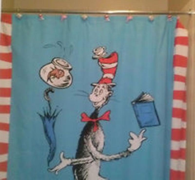Adorable Dr Seuss Shower Curtain