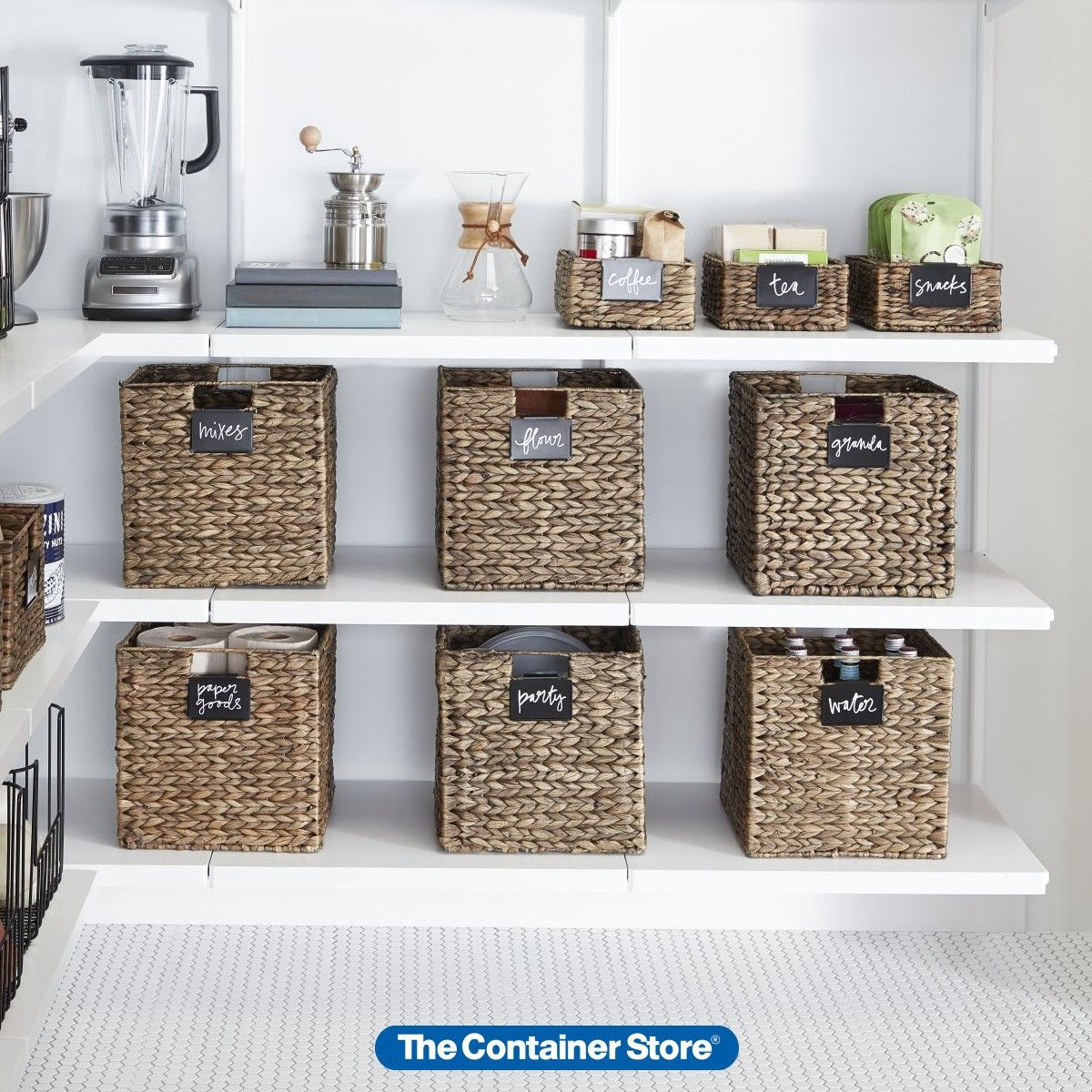 Mocha Water Hyacinth Storage Cubes With Handles In 2020 Cube
