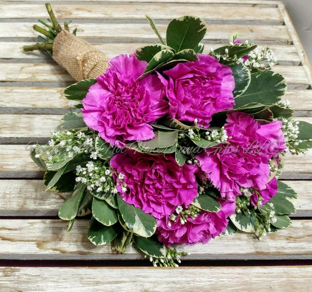 Wedding bouquets not flowers  Lavender carnations bridesmaid bouquet by ForgetMeNot Flowers and