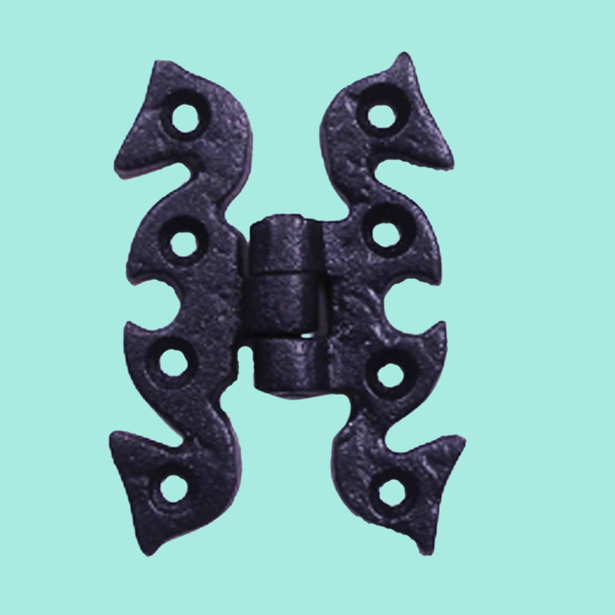 Door or Cabinet Surface Hinge Black Wrought Iron 2 3/4 H # 15786 ...
