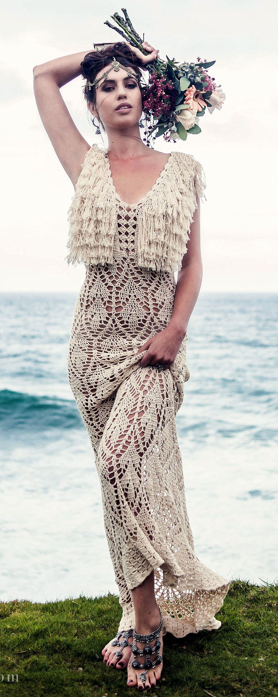 handmade crochet dress by IsaCatepillan on Etsy Схемы