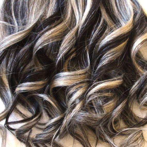 Dark Hair With Platinum Blonde Highlights Hair Highlights Blonde Hair With Highlights Temporary Blonde Hair Dye
