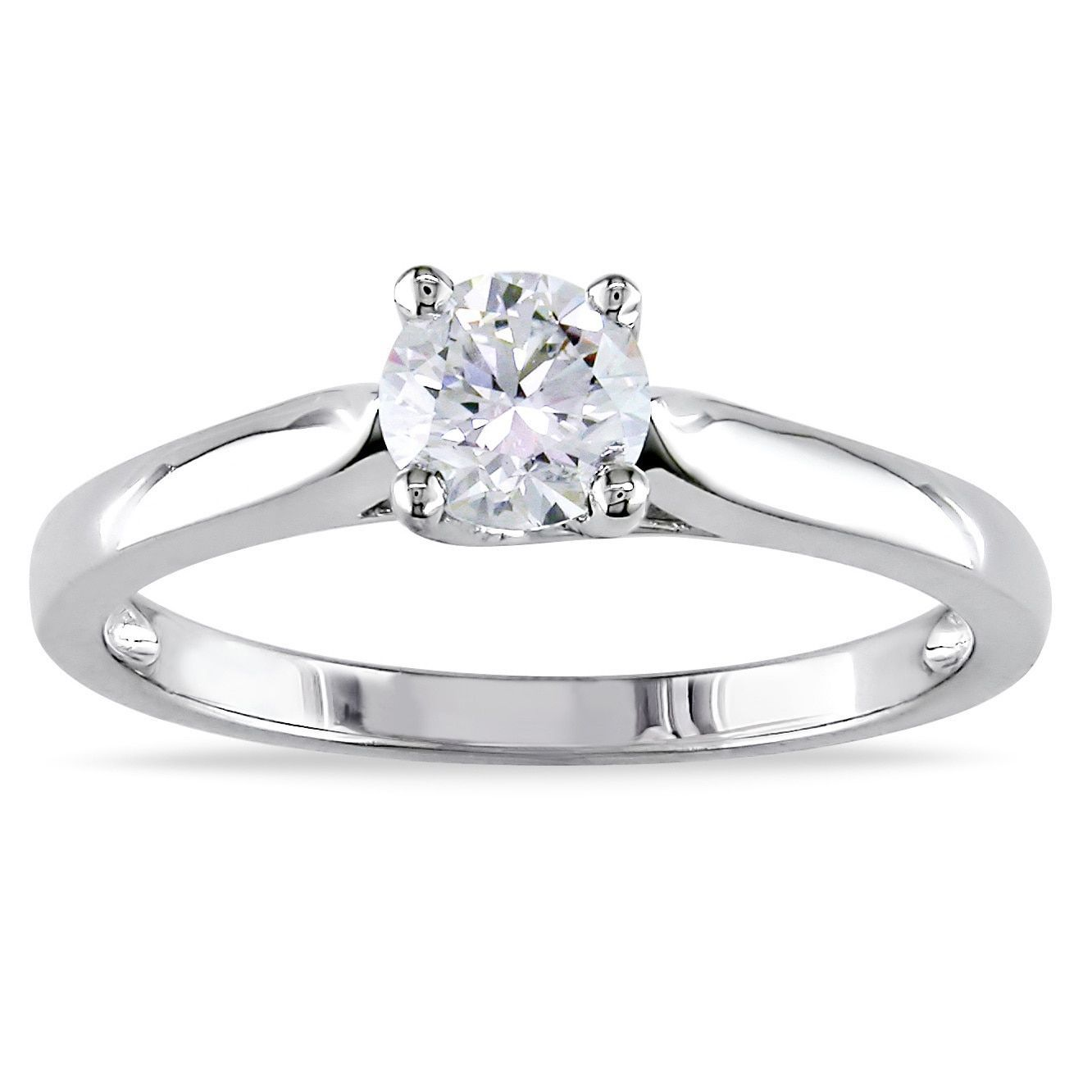 2ct Tdw Certified Diamond Solitaire  Ring (gh, Si1si2) (white  Size 9), Women's