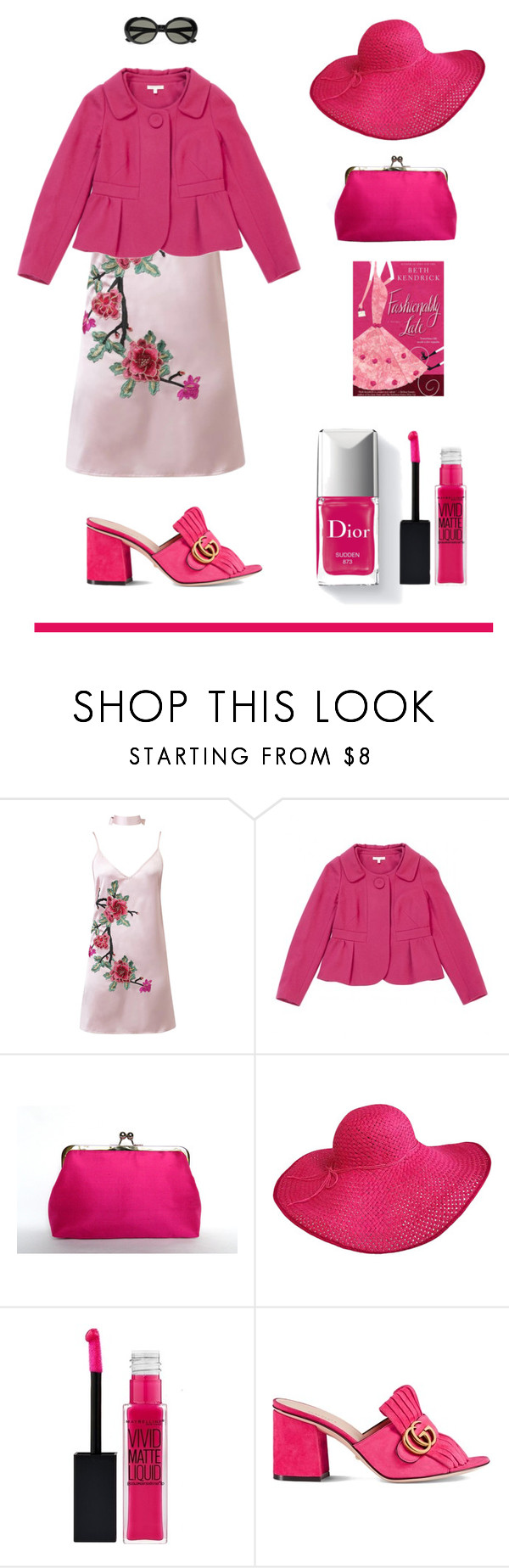 """""""Vintage pink"""" by jane-doe-1977 ❤ liked on Polyvore featuring WithChic, Paule Ka, Couture Colour, Gucci, Yves Saint Laurent and vintage"""