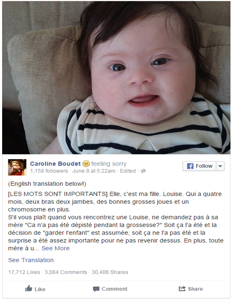 Mom's Awesome Facebook Post About Her Baby With Down Syndrome Goes Viral | LifeNews.com