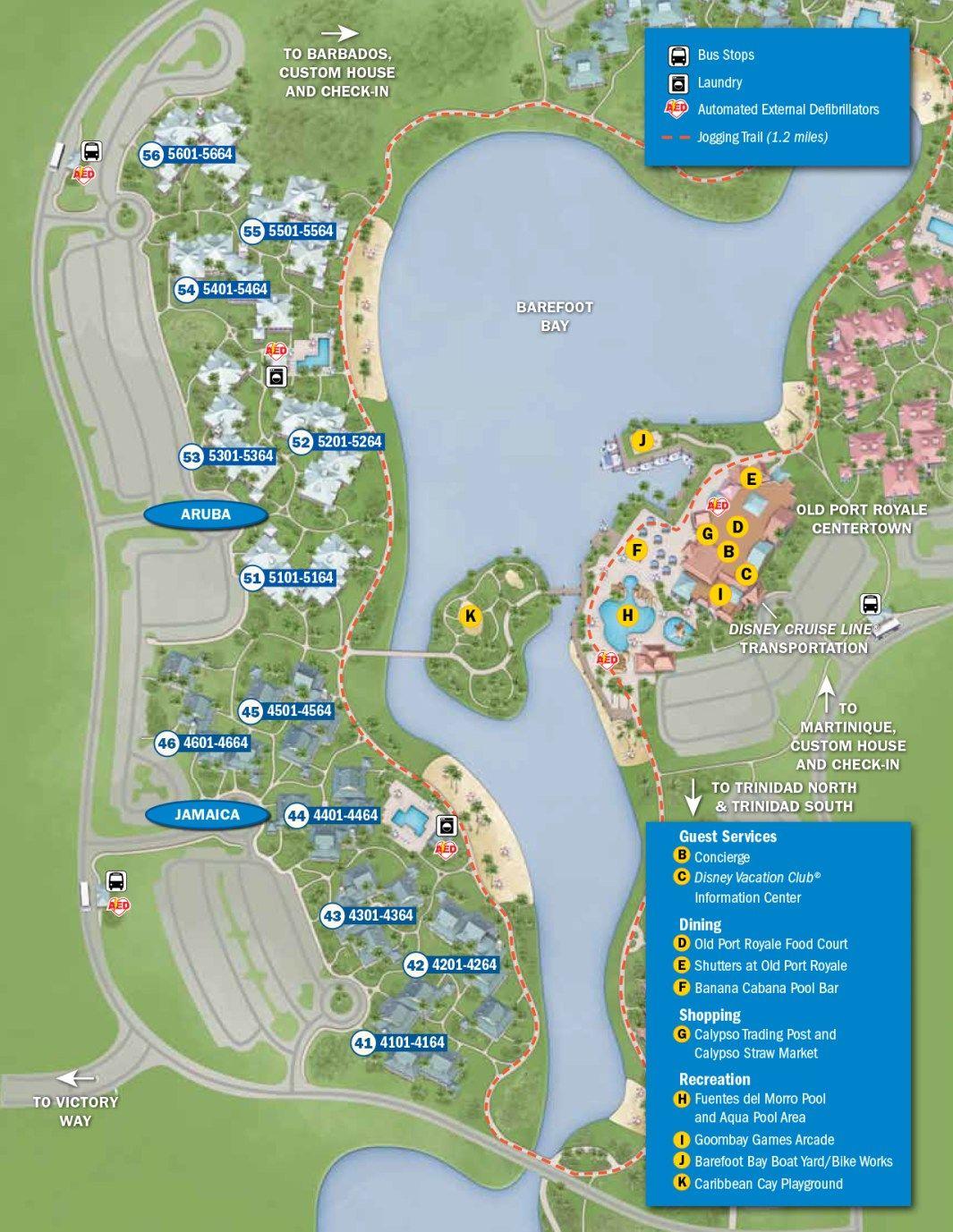 Caribbean Beach Resort Map Walt Disney World | Caribbean ...