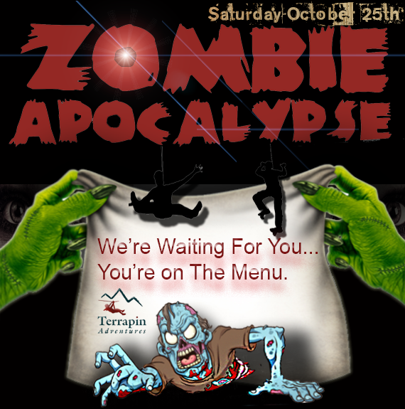 Would you survive a #ZombieApocalypse? Find out at our Zombie Apocalypse Survival Training! Test your skills on all our zombified elements #takethechallenge #terrapinadventures #zombieapocalypsesurvivaltraining