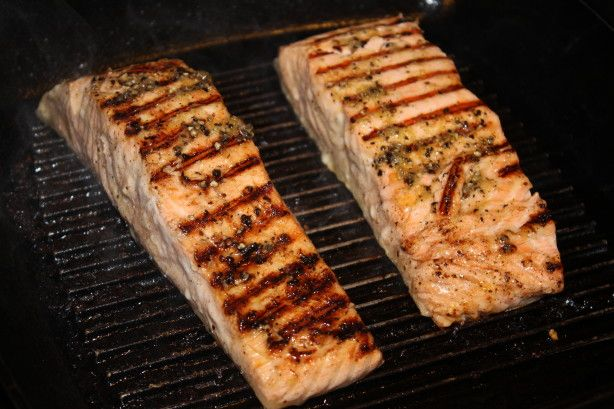 George Foreman Simple Grilled Salmon Recipe Food Com Recipe Grilled Salmon Recipes George Foreman Recipes Salmon Recipes