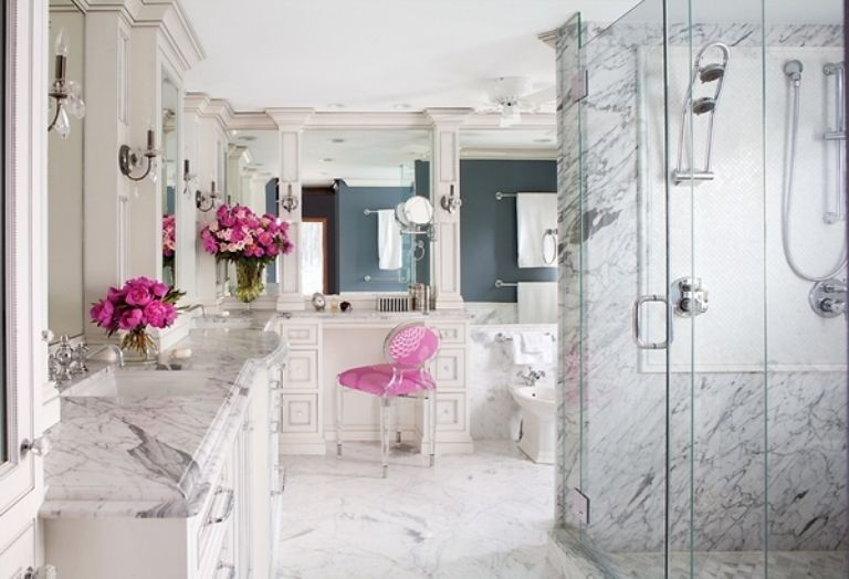 Romantic and Beautiful Bathroom Design Ideas Of Marble Pictures 3