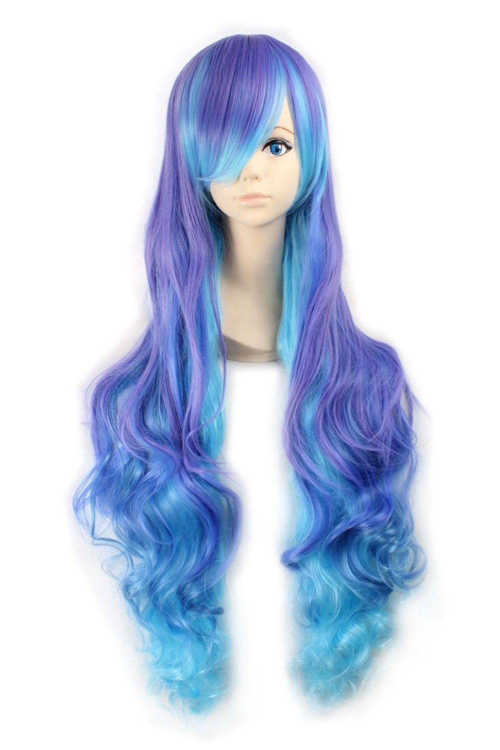 "33"" Gradient Rainbow Curly Hair Harajuku"