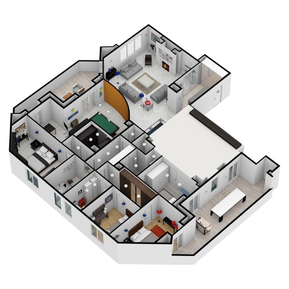 Big Plan Made On Floorplanner Com Create Floor Plan Interior Design Software Floor Plans