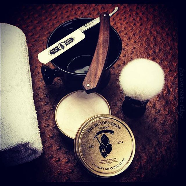 The Blades Grim Made In The Usa Straightrazors Shave Soaps Pre Shave Oils Aftershaves Beard Oils Beard Wash Conditi Shaving Straight Razor Beard Wash