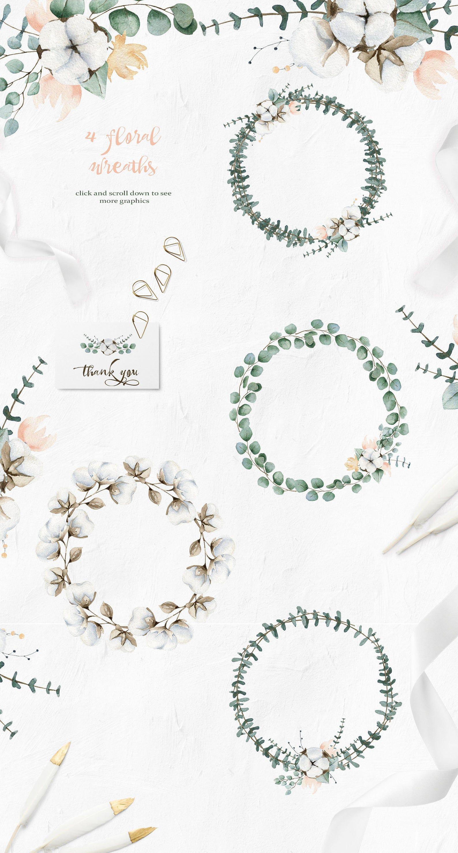 Elegant greenery eucalyptus summer wedding invitation