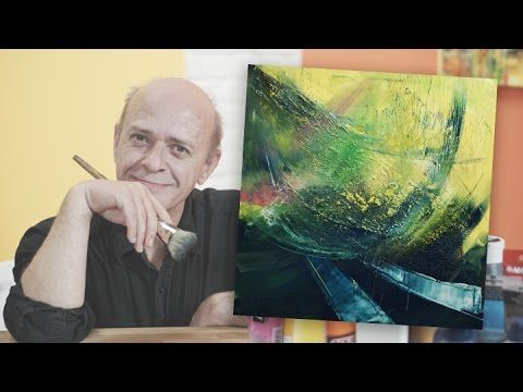 Masking Tape And Acrylic Abstract Painting Timelapse Utopia