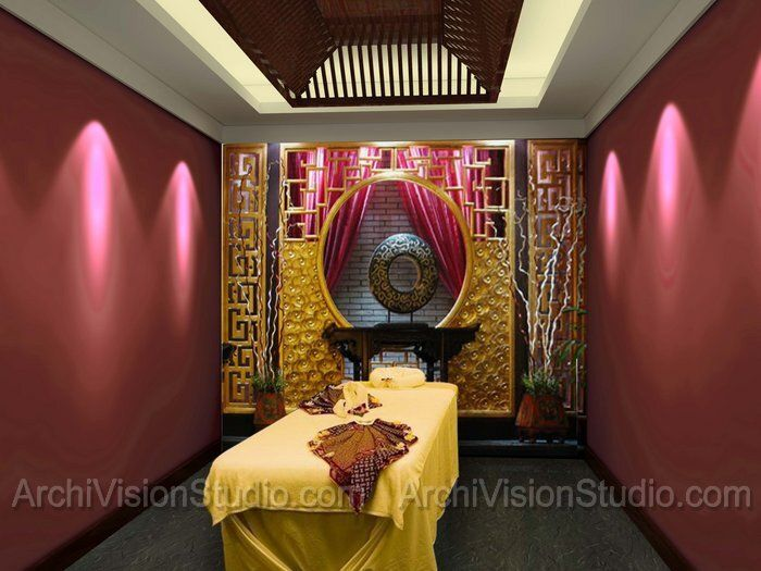 spa room but different theme decoración Pinterest Spa rooms