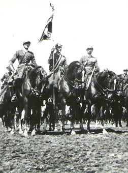 Polish Cavalry in 1939. Now, lots of jokes can be made about this...but I'm enthralled because my 2nd horse was from this same stud. Love love.