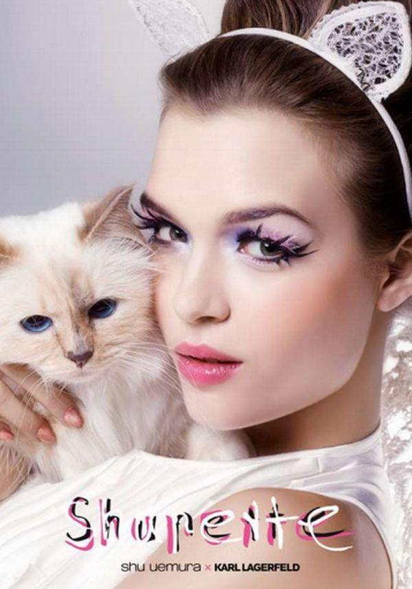 Maquiagem Choupette da gata de Karl Lagerfeld   llll