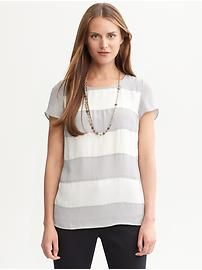 Petite Tops: long-sleeve, short-sleeve, v-neck, cowlneck, tie-neck tops & camisoles in petite sizes | Banana Republic