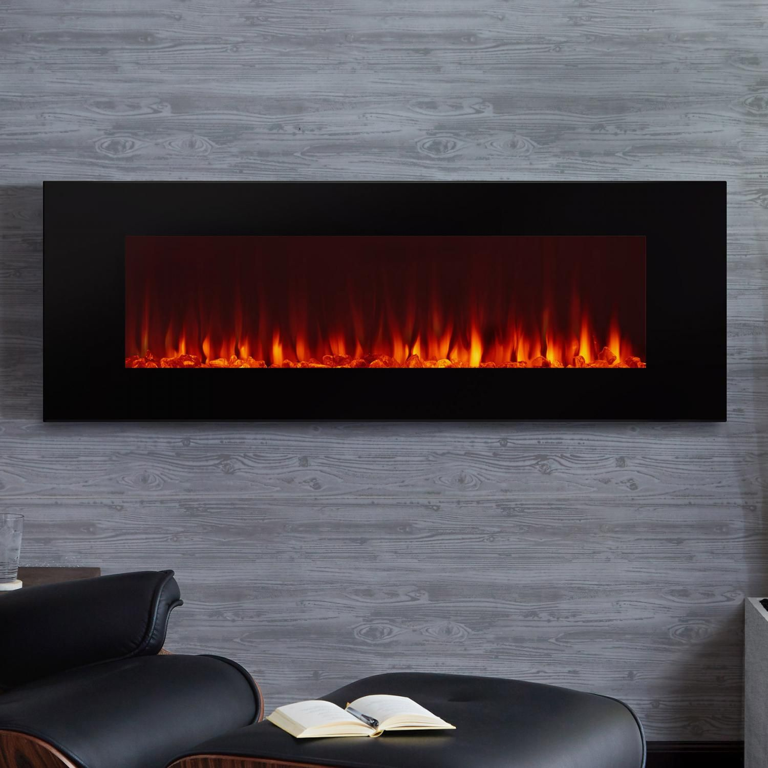 Real Flame 1330e Bk Dinatale 50 Inch Wall Mounted Electric