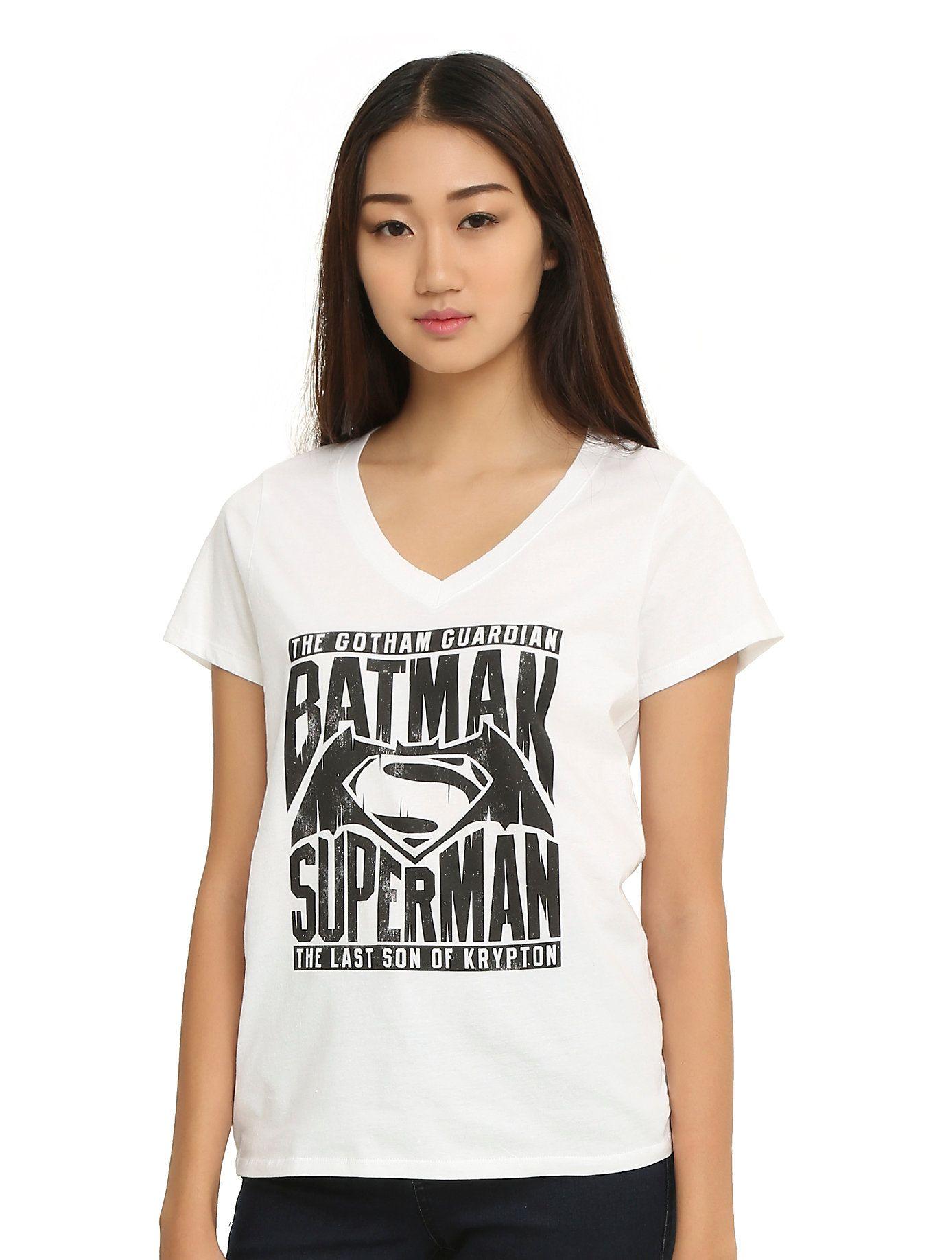 DC Comics Batman V Superman: Dawn Of Justice Logo Girls T-Shirt