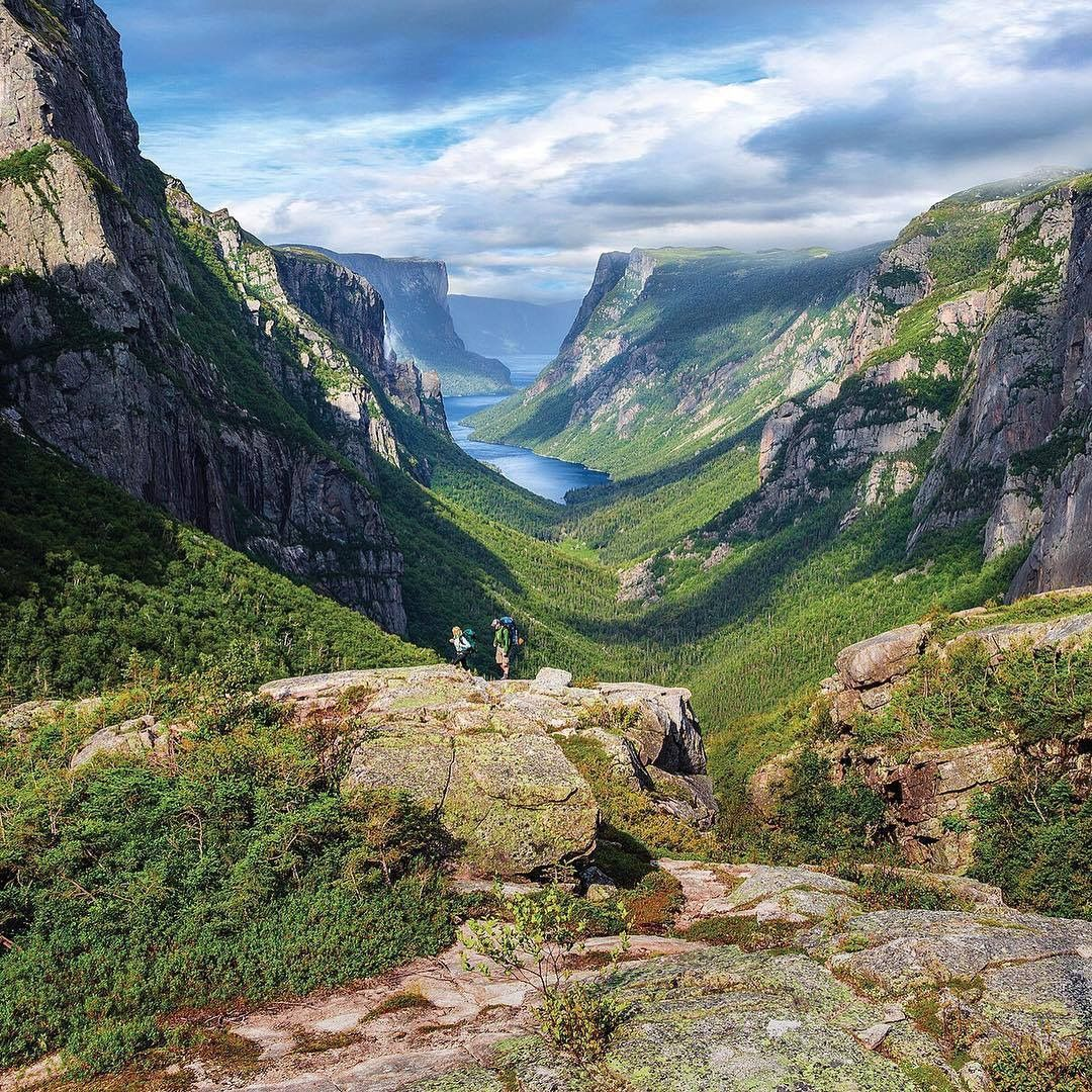 Nova Scotia Hiking Trails: View From The Western Brook Pond In Grose Morne National