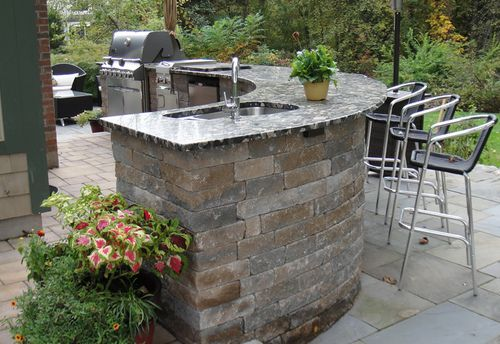 Curved Barbecue Island Google Search Outdoor Kitchen Design
