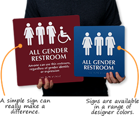Bathroom Signs Commercial transgender restroom signs - commercial site - where to buy