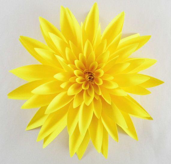 Paper Dahlia Realistic Paper Flower Table Decorations Paper