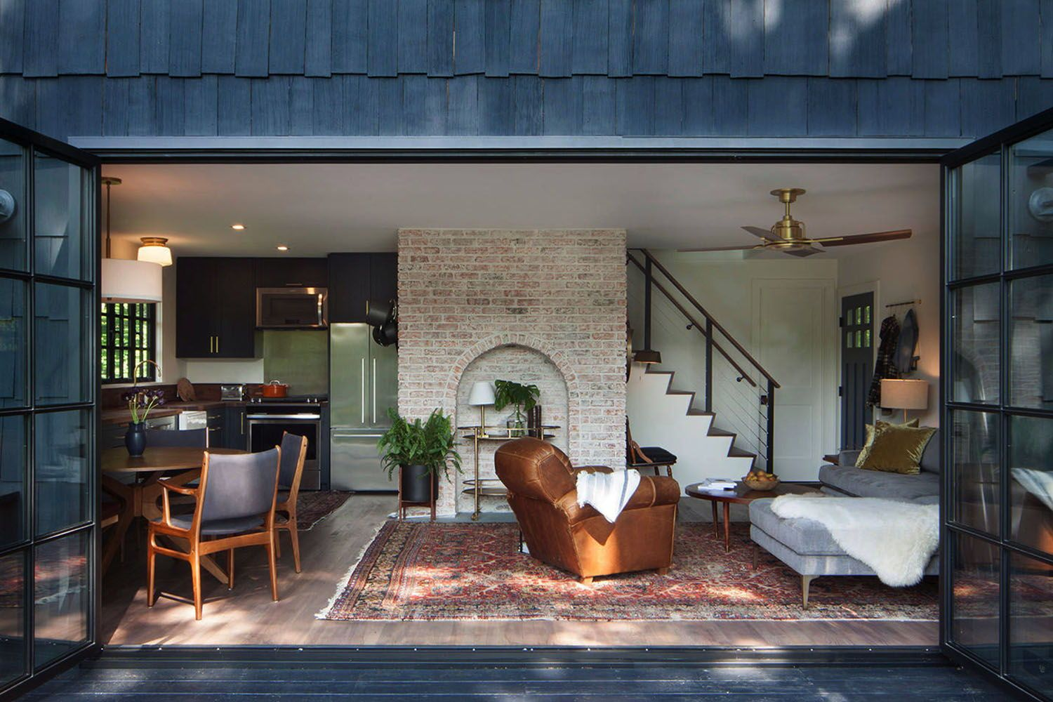 Photo of Captivating mid-century trendy cottage with perspectives of the Hudson River