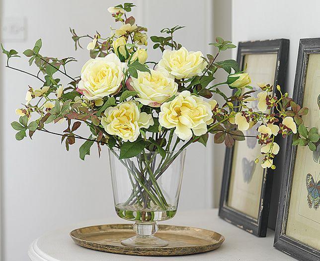Yellow rose and oncidium arrangement bloom artificial flowers yellow rose and oncidium arrangement bloom artificial flowers mightylinksfo