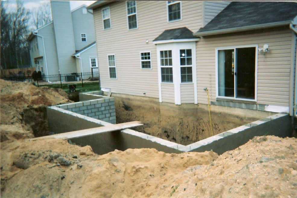 As Seen In Picture Number One We Had To Create A Basement