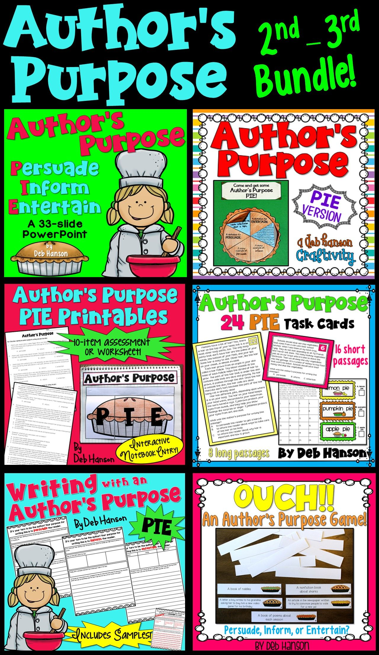Author S Purpose Bundle For 2nd And 3rd Grade