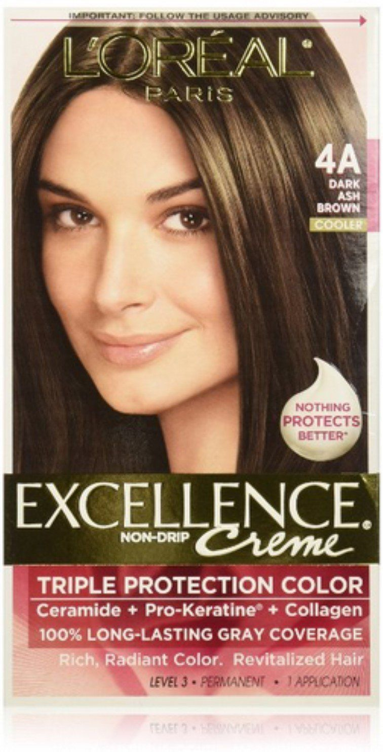 L Oreal Paris Excellence Creme Haircolor Dark Ash Brown 4a