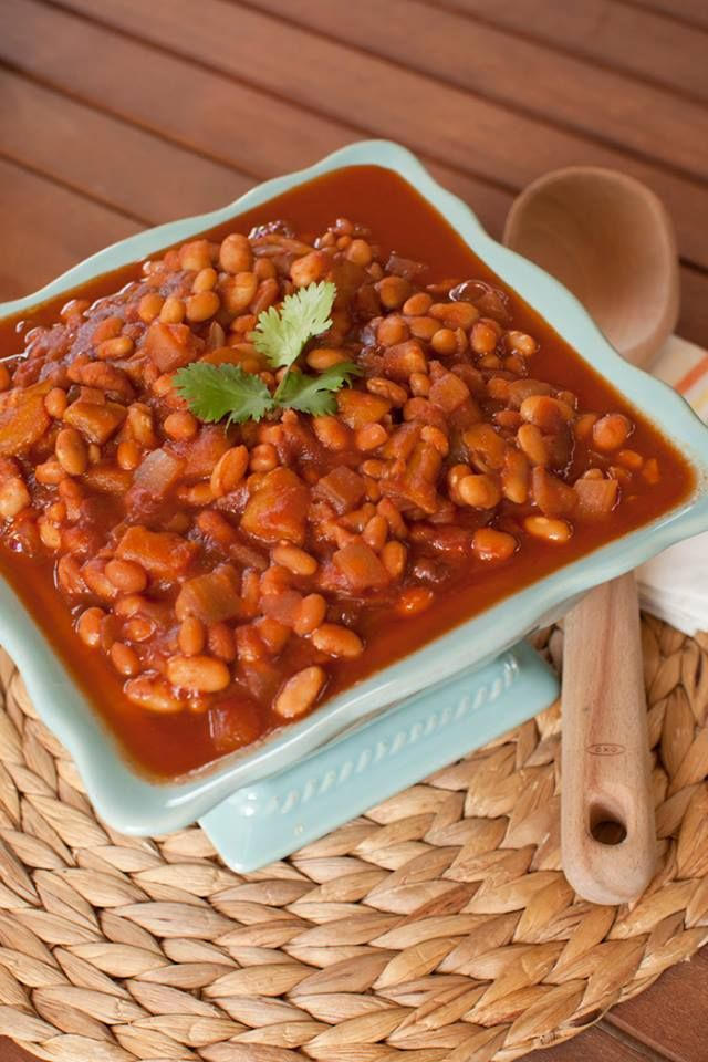 Slow Cooker Mango Bbq Baked Beans