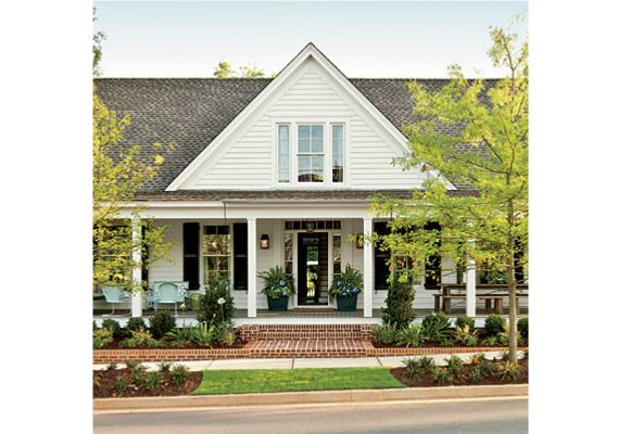 Landscaping Ideas For A House With A Front Porch : Bringing the brick on porch into planting beds dreamy
